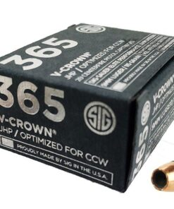 Sig Sauer P365 9mm 115 Gr Elite V-Crown JHP 20Rd Box